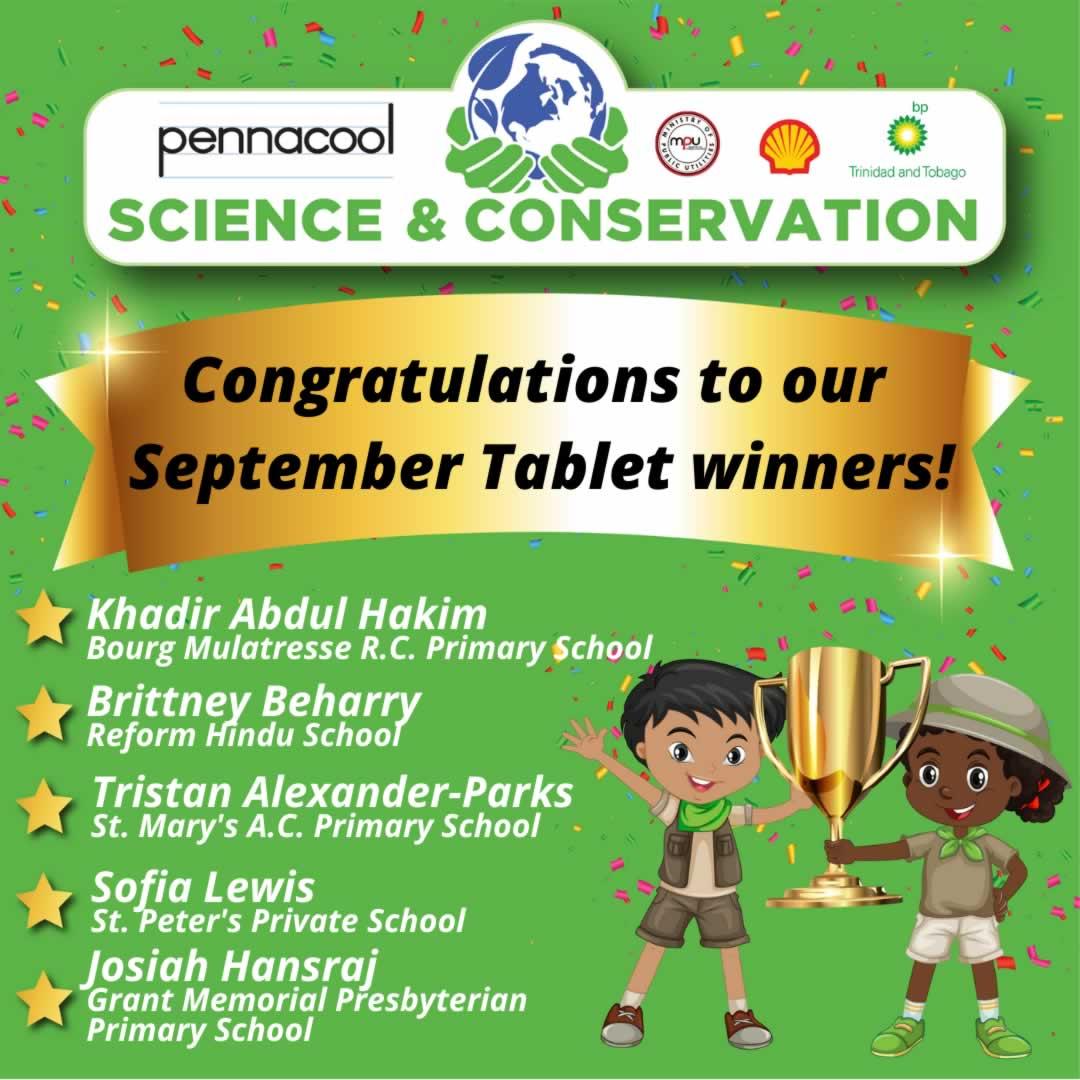 September Tablet Winners